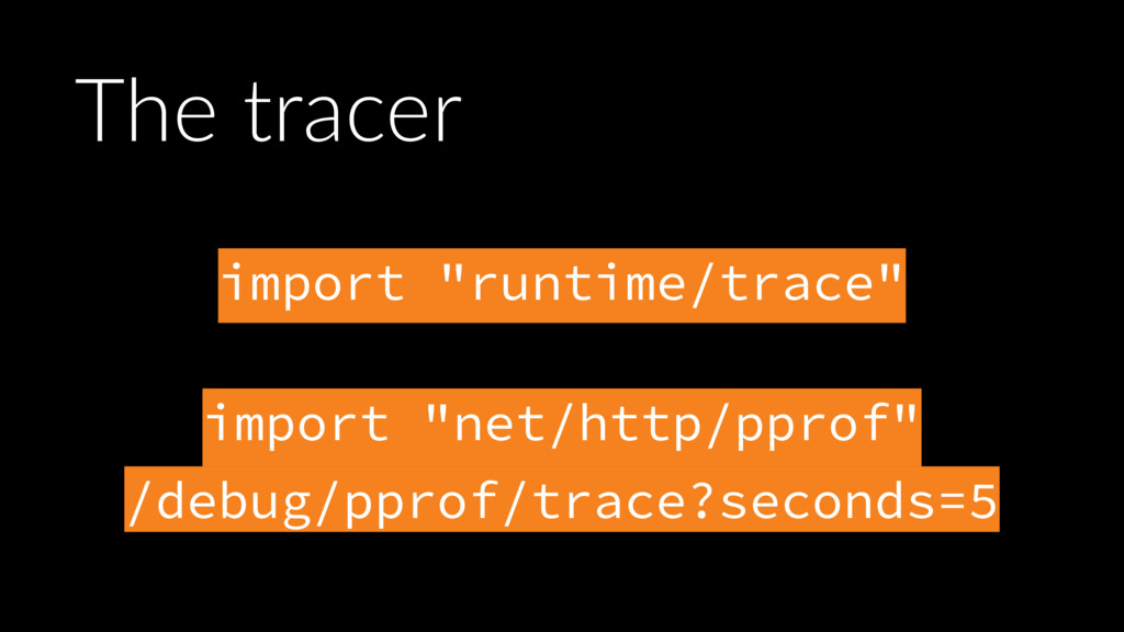 """import """"runtime/trace""""  import """"net/http/pprof..."""