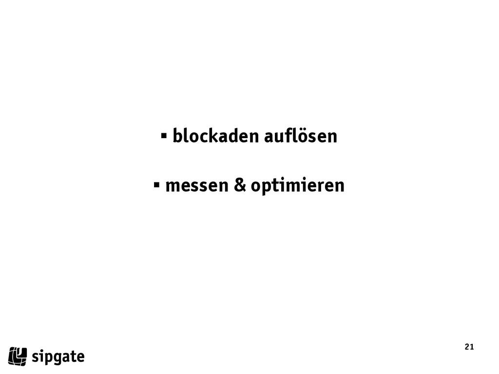 21  blockaden auflösen  messen & optimieren