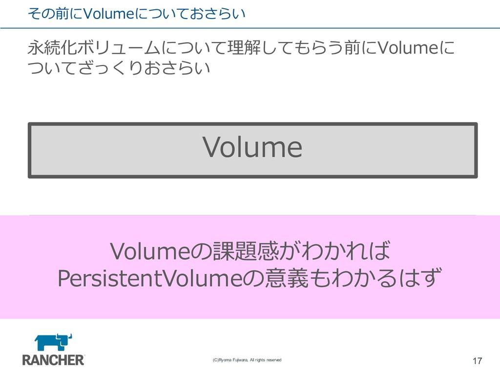その前にVolumeについておさらい 永続化ボリュームについて理解してもらう前にVolumeに...