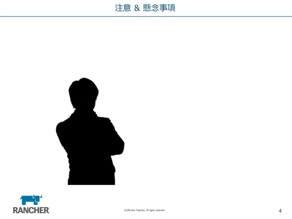 注意 & 懸念事項 4 (C)Ryoma Fujiwara, All rights reser...