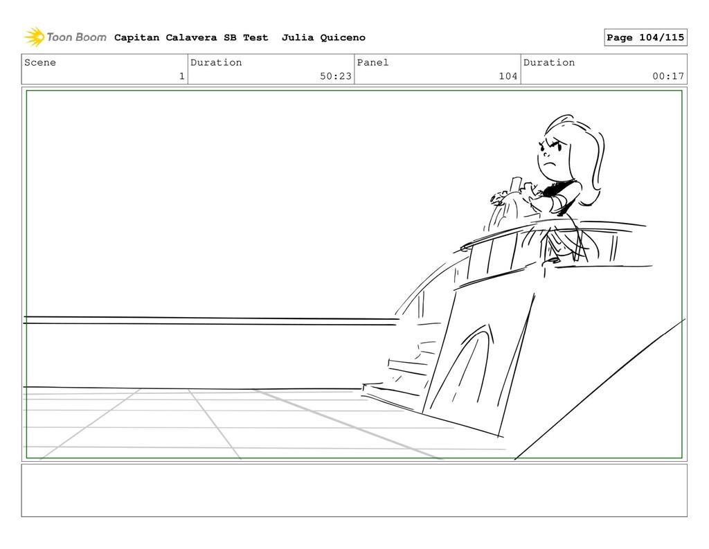 Scene 1 Duration 50:23 Panel 104 Duration 00:17...