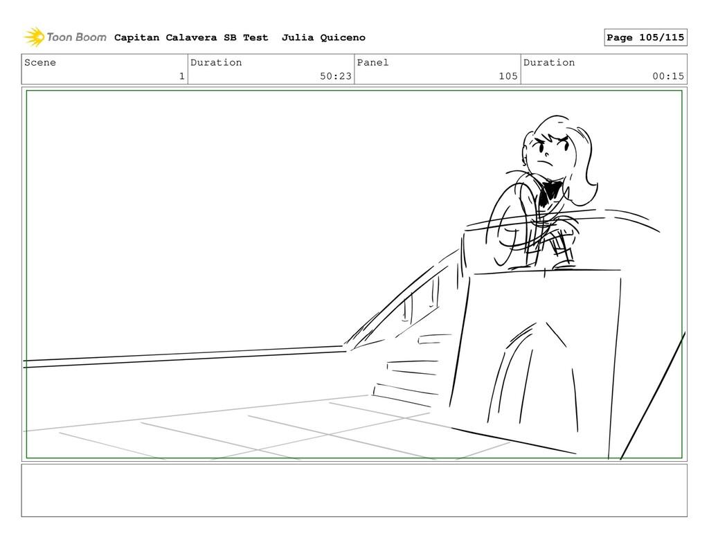 Scene 1 Duration 50:23 Panel 105 Duration 00:15...