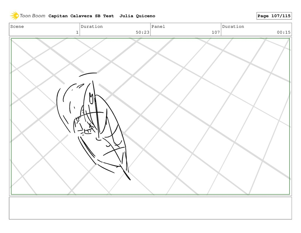 Scene 1 Duration 50:23 Panel 107 Duration 00:15...