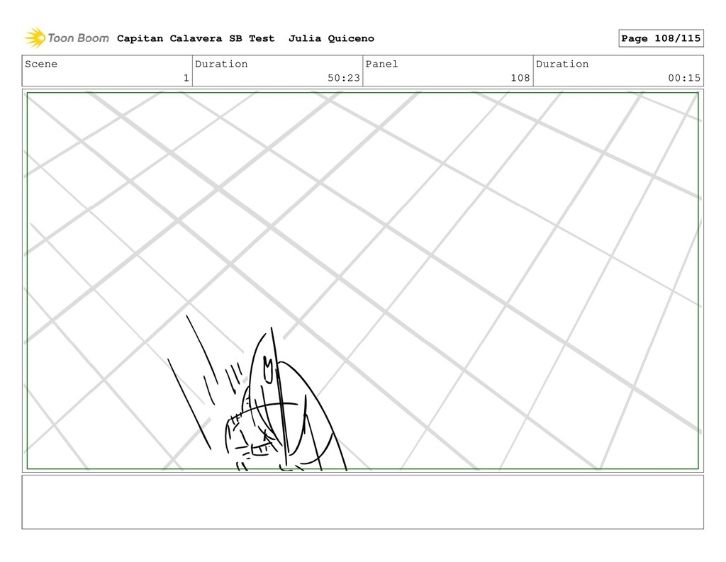 Scene 1 Duration 50:23 Panel 108 Duration 00:15...