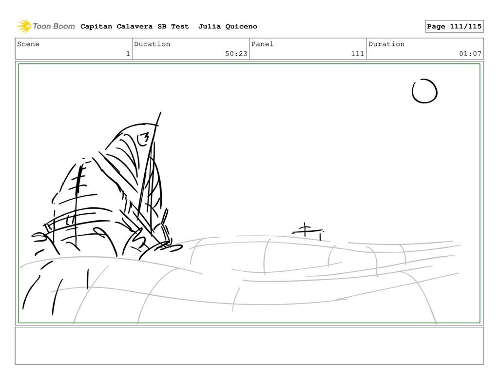 Scene 1 Duration 50:23 Panel 111 Duration 01:07...