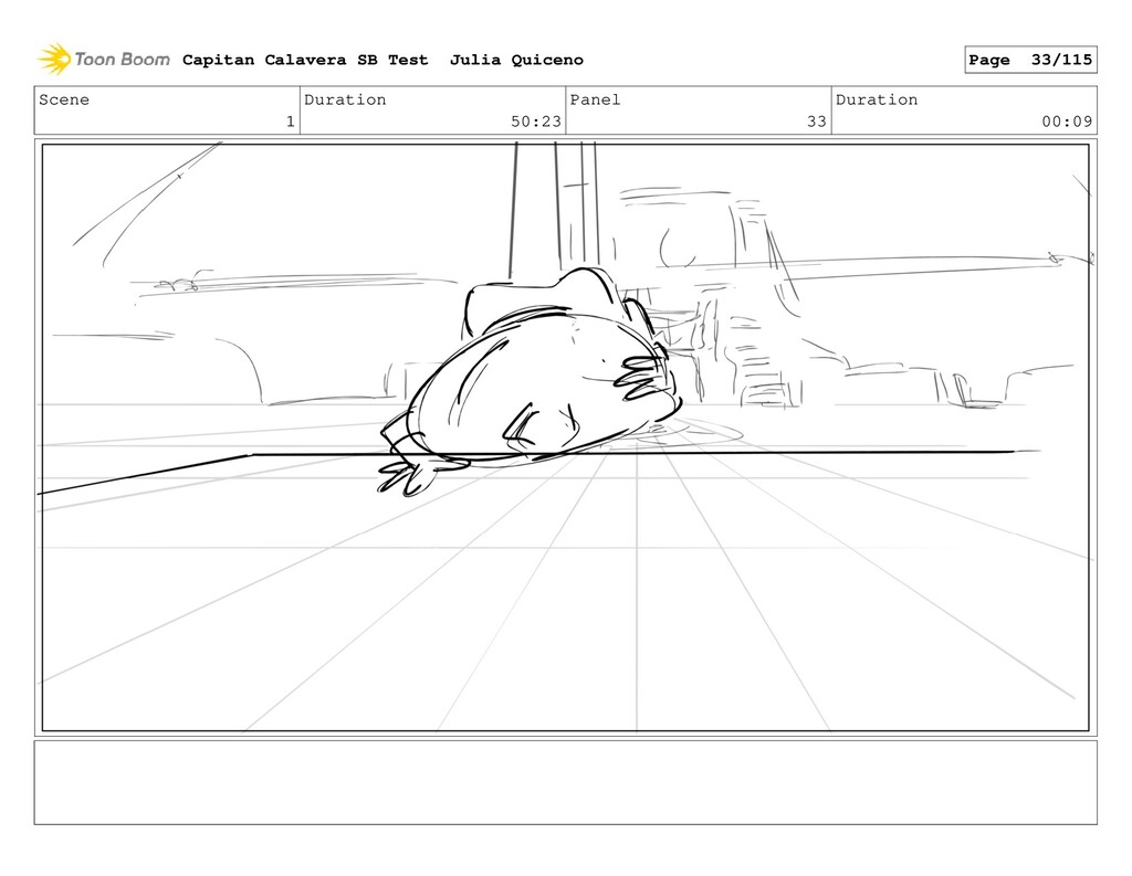 Scene 1 Duration 50:23 Panel 33 Duration 00:09 ...