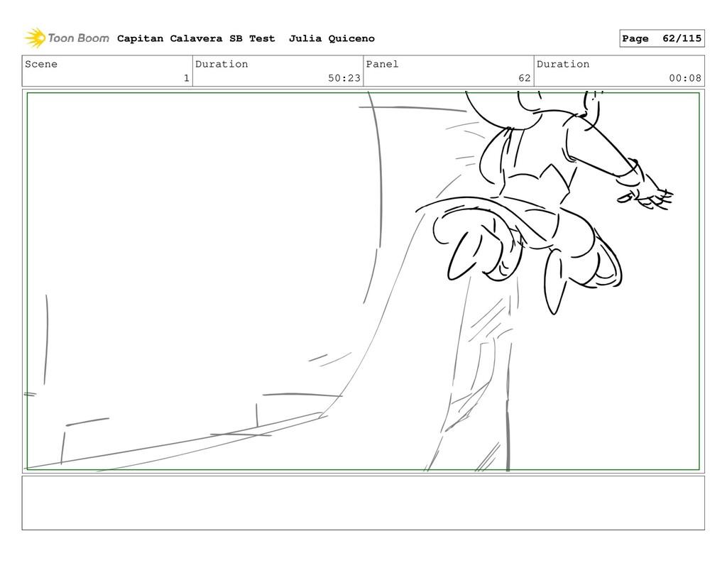 Scene 1 Duration 50:23 Panel 62 Duration 00:08 ...
