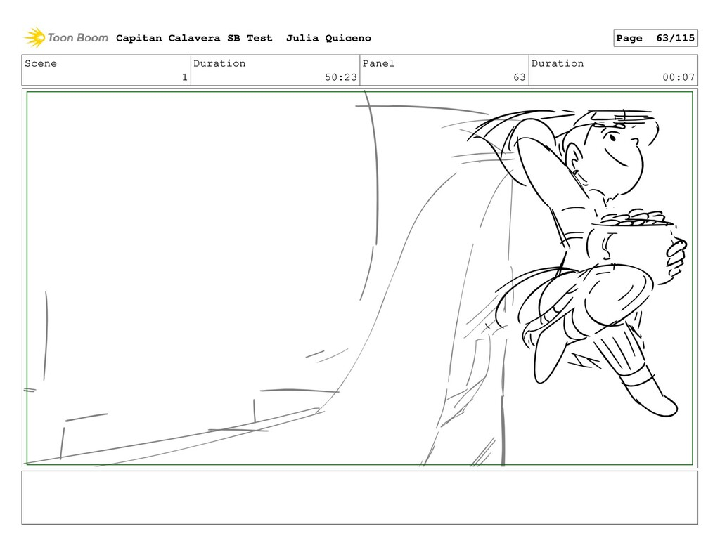 Scene 1 Duration 50:23 Panel 63 Duration 00:07 ...