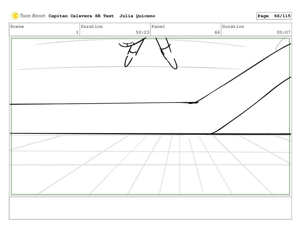 Scene 1 Duration 50:23 Panel 66 Duration 00:07 ...