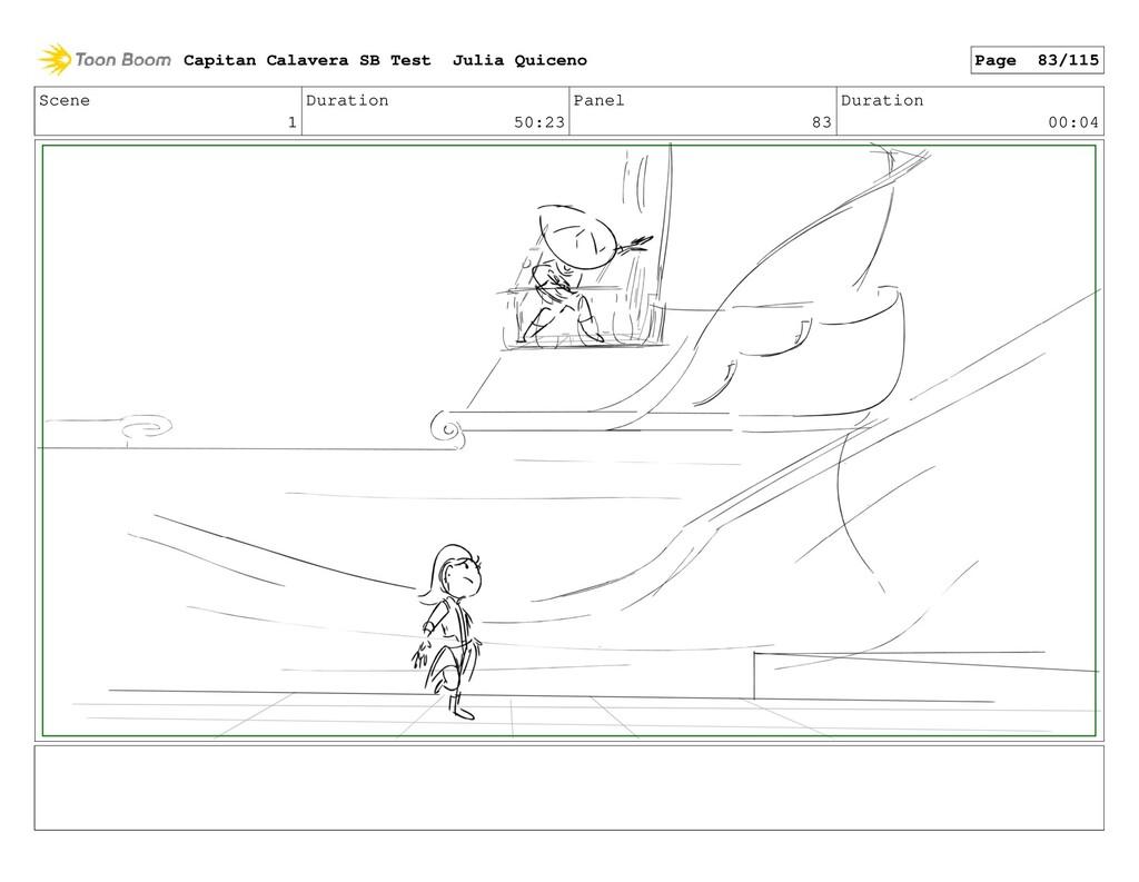 Scene 1 Duration 50:23 Panel 83 Duration 00:04 ...