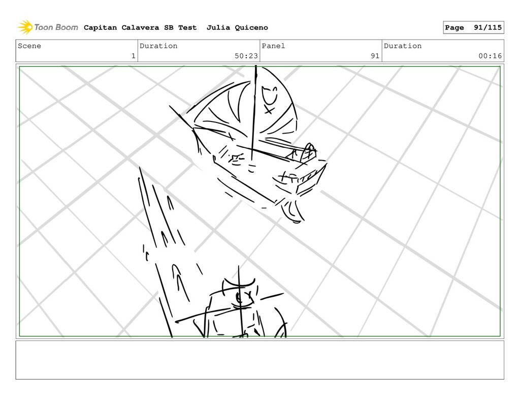 Scene 1 Duration 50:23 Panel 91 Duration 00:16 ...