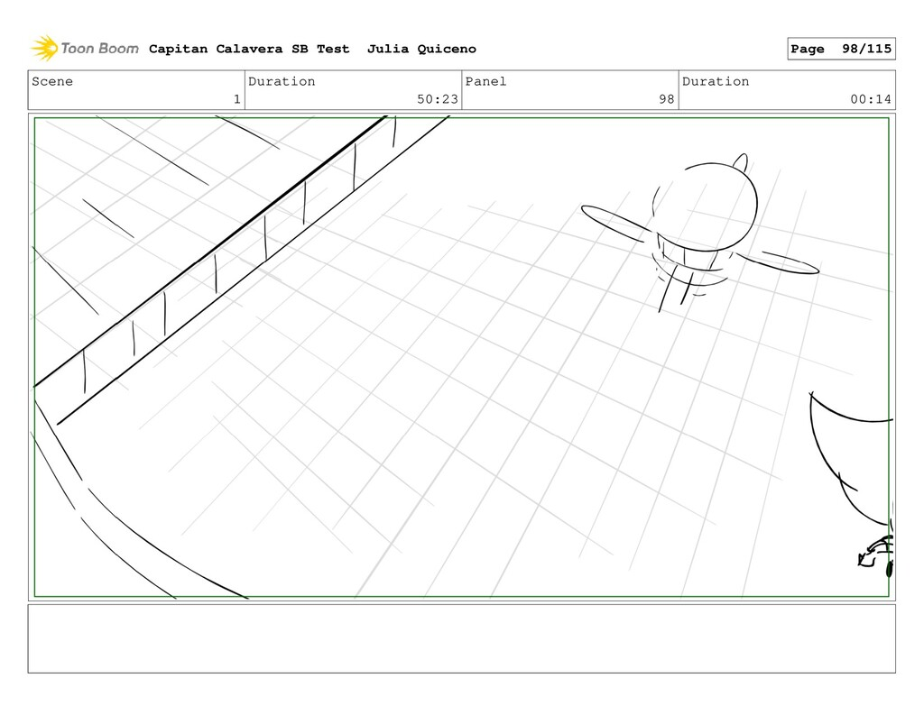 Scene 1 Duration 50:23 Panel 98 Duration 00:14 ...