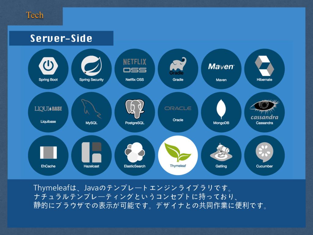 Server-Side Tech Thymeleafは、Javaのテンプレートエンジンライブラ...