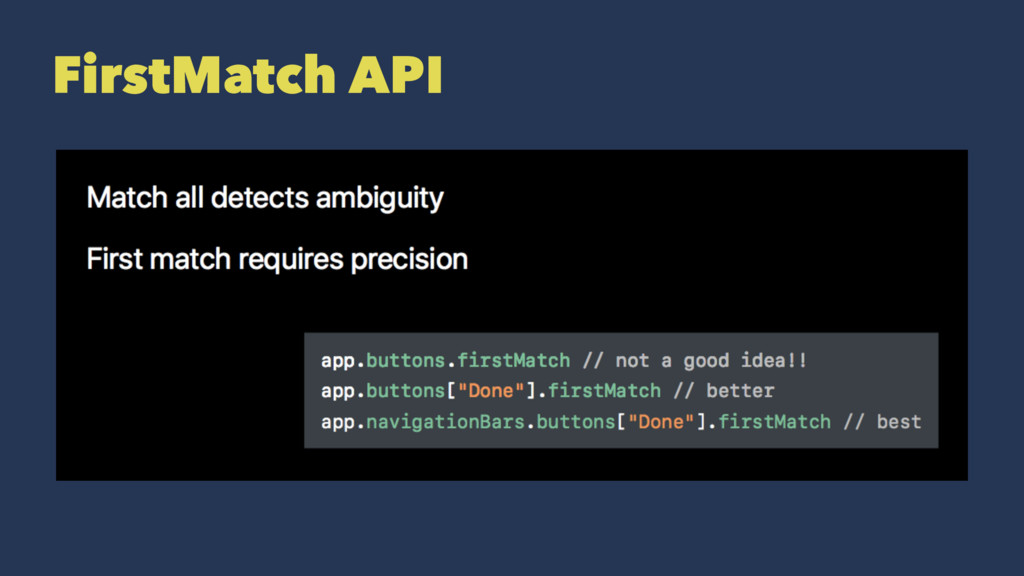 FirstMatch API