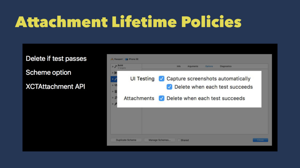 Attachment Lifetime Policies