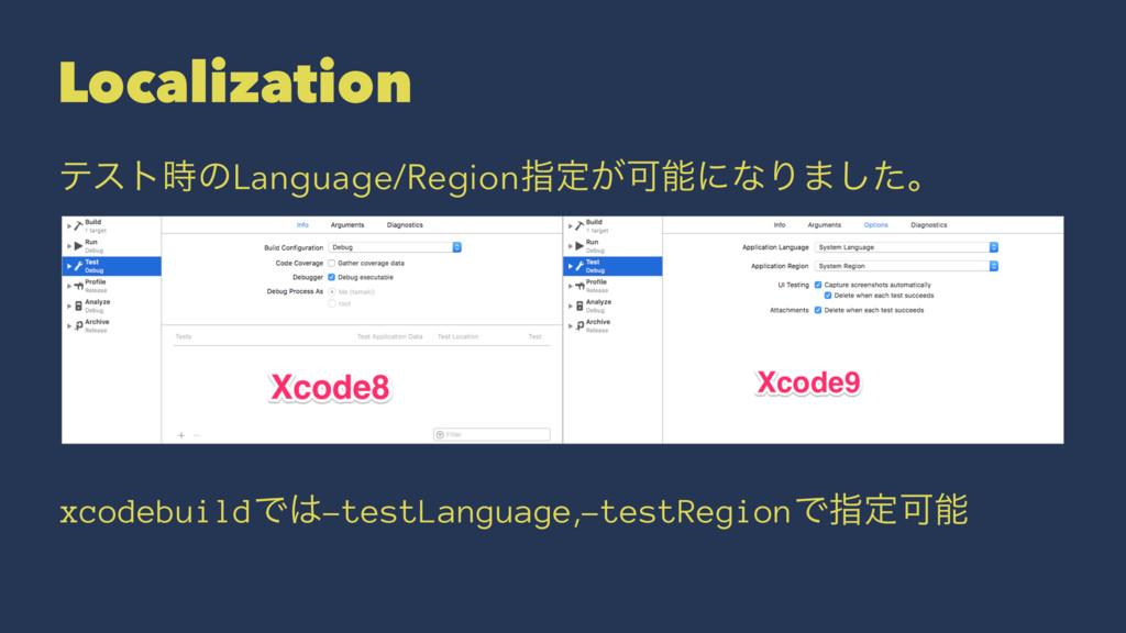 Localization ςετͷLanguage/Regionࢦఆ͕ՄʹͳΓ·ͨ͠ɻ x...