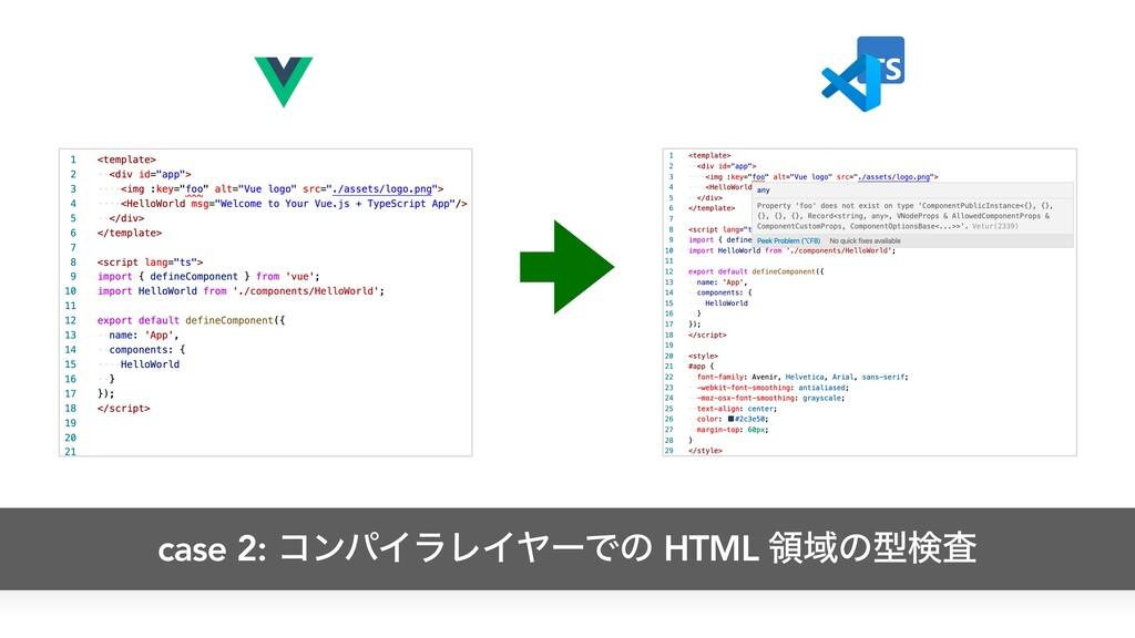 case 2: ίϯύΠϥϨΠϠʔͰͷ HTML ྖҬͷܕݕࠪ