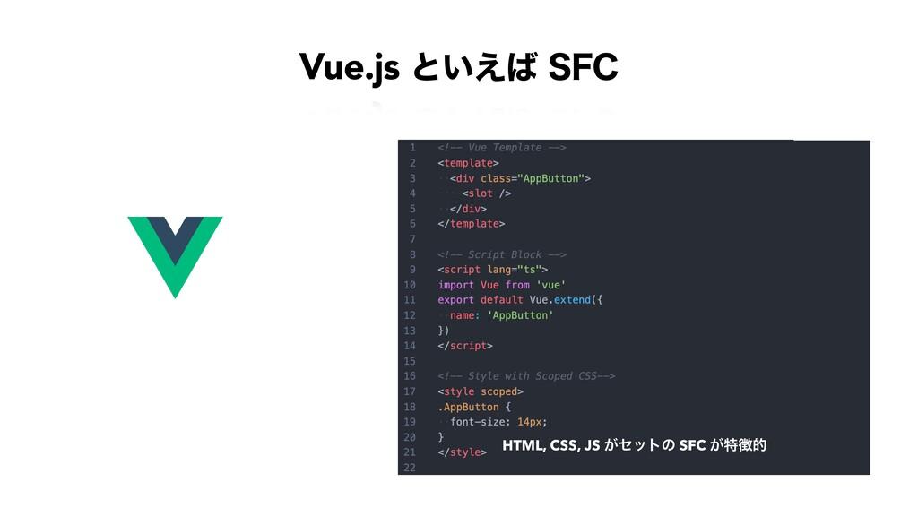 Vue.js ͱ͍͑4'$ HTML, CSS, JS ͕ηοτͷ SFC ͕ಛత