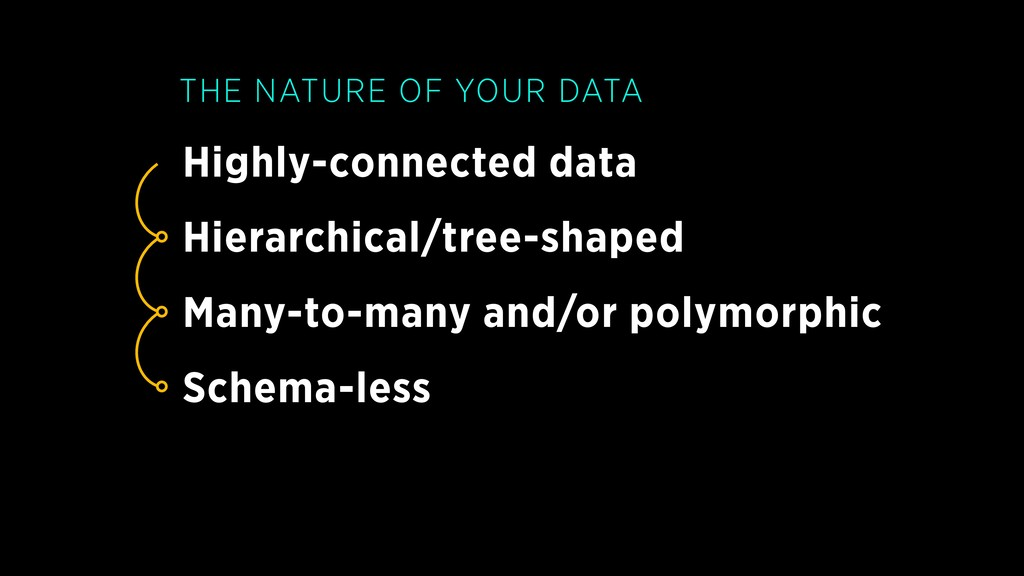 Highly-connected data THE NATURE OF YOUR DATA H...
