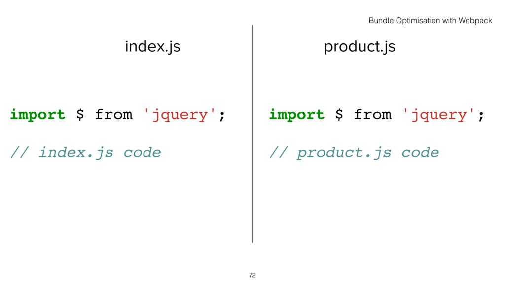index.js product.js 72 import $ from 'jquery'; ...