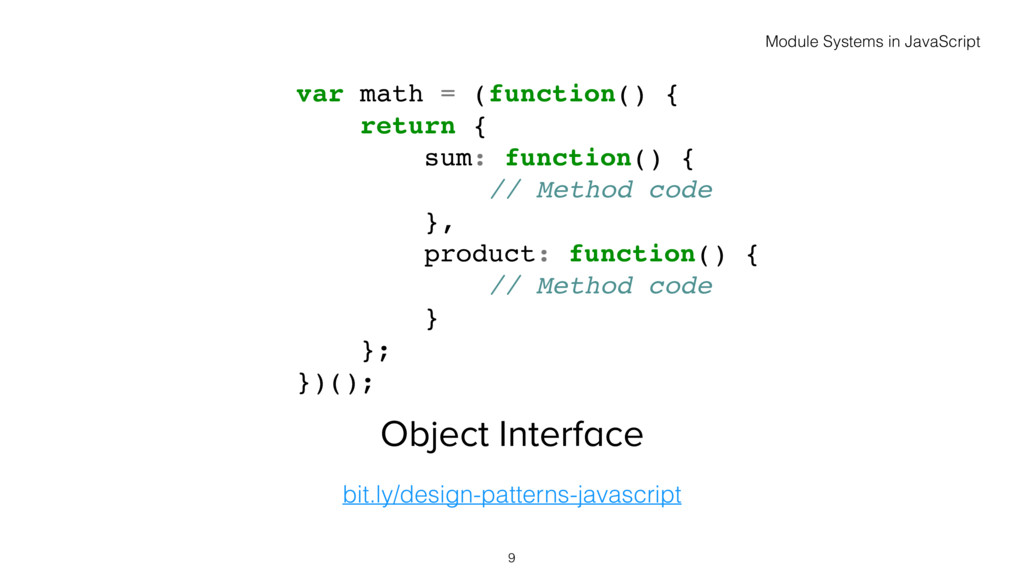 Object Interface bit.ly/design-patterns-javascr...