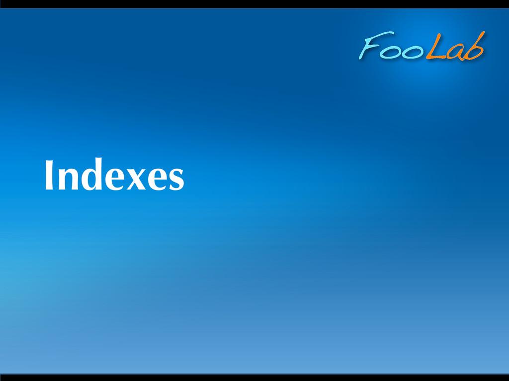 FooLab Indexes