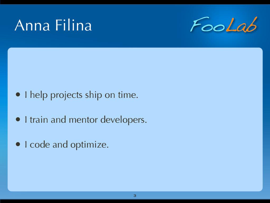 FooLab Anna Filina 3 • I help projects ship on ...