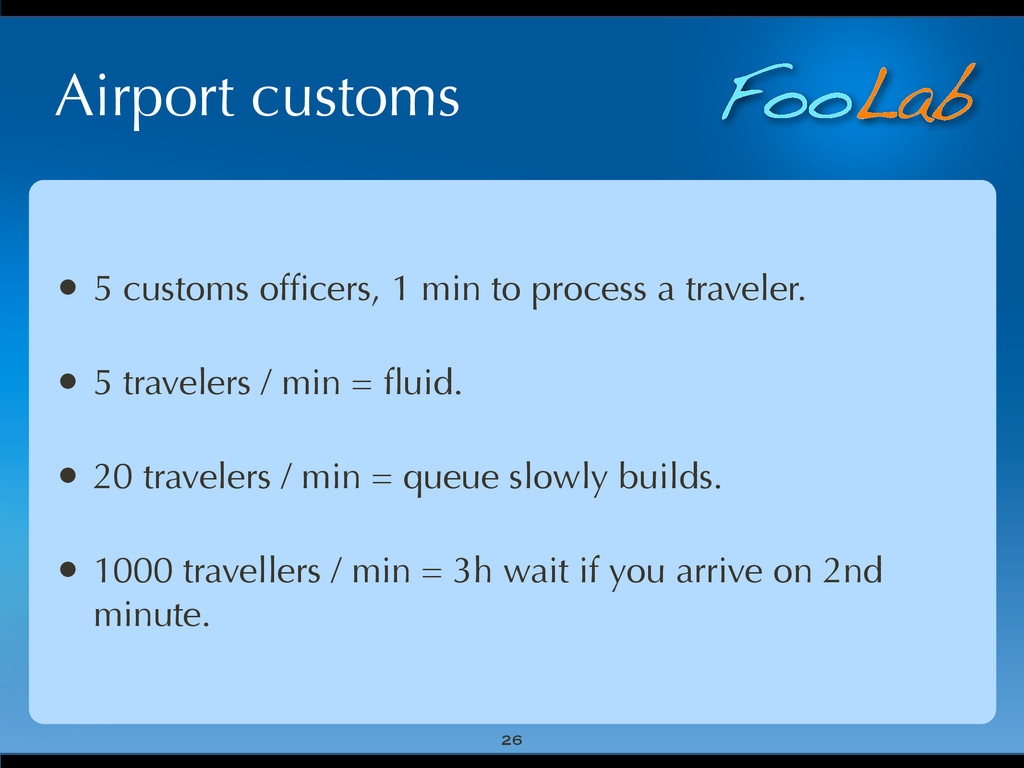 FooLab Airport customs 26 • 5 customs officers, ...