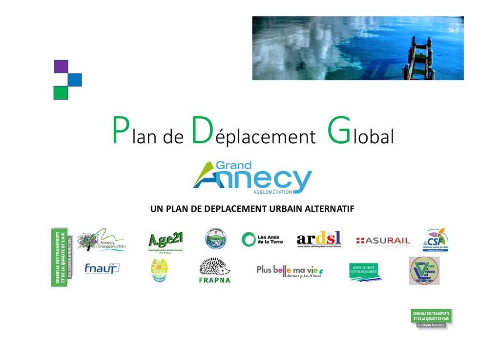 Plan de Déplacement Global UN PLAN DE DEPLACEME...