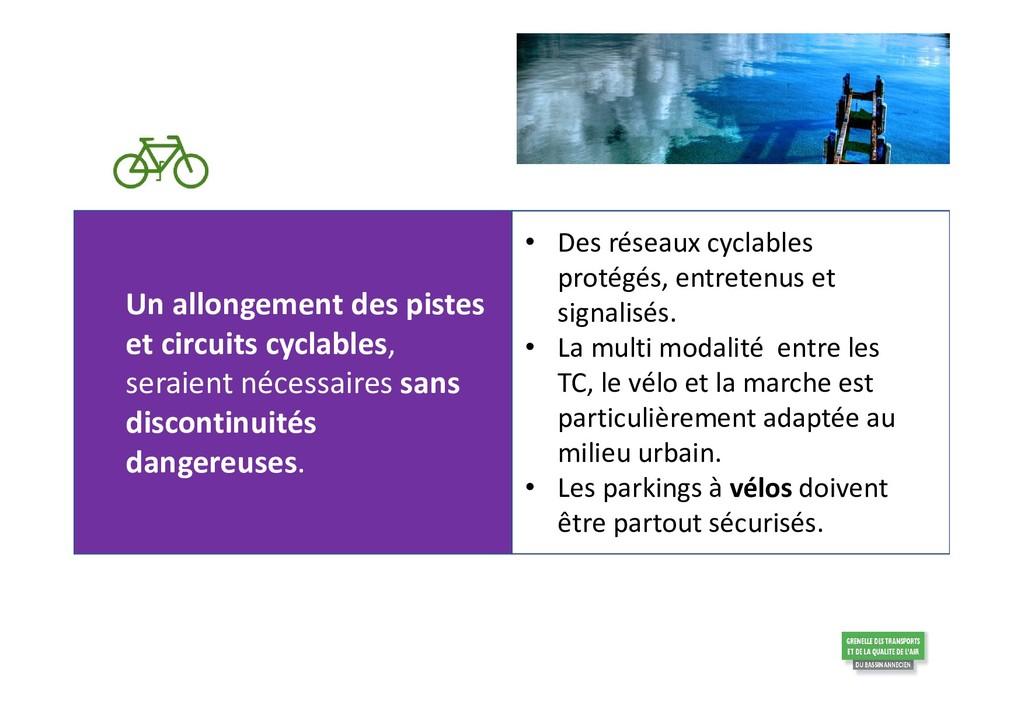 Un allongement des pistes et circuits cyclables...