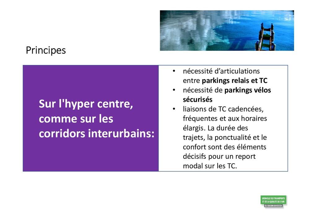 Sur l'hyper centre, comme sur les corridors int...