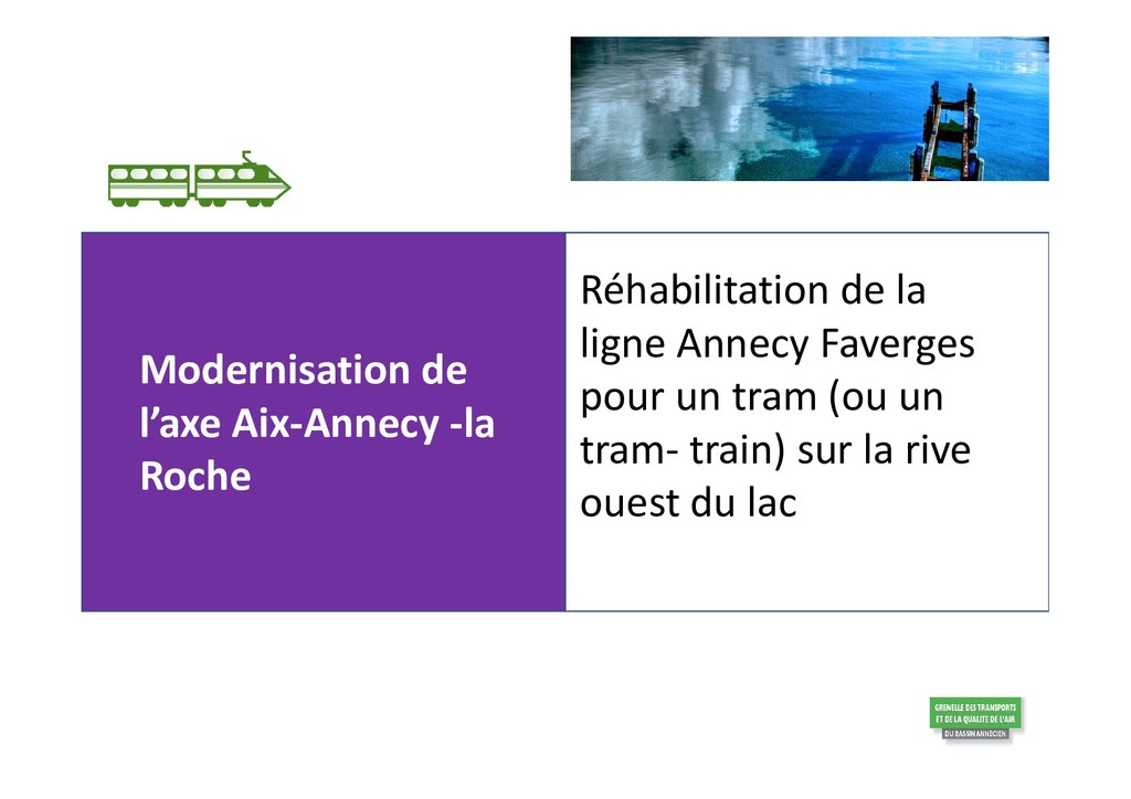 Modernisation de l'axe Aix-Annecy -la Roche Réh...
