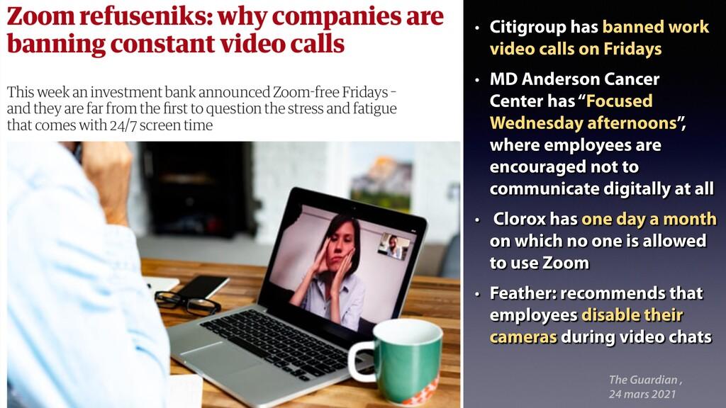 The Guardian , 24 mars 2021 • Citigroup has ban...