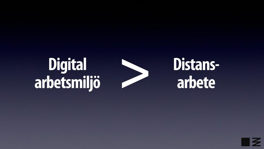 Digital arbetsmiljö Distans- arbete >