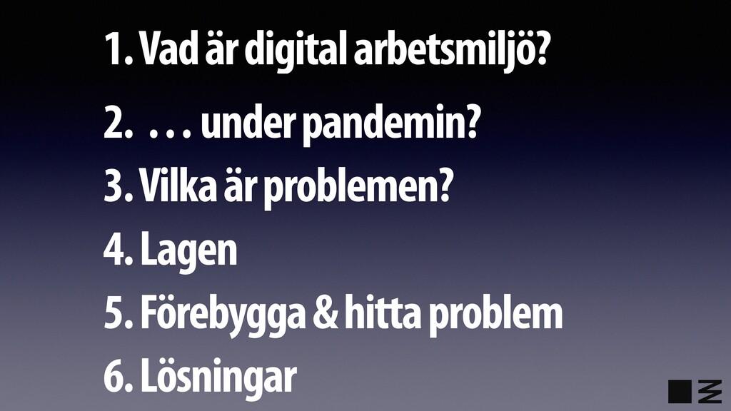 1. Vad är digital arbetsmiljö? 2. … under pande...