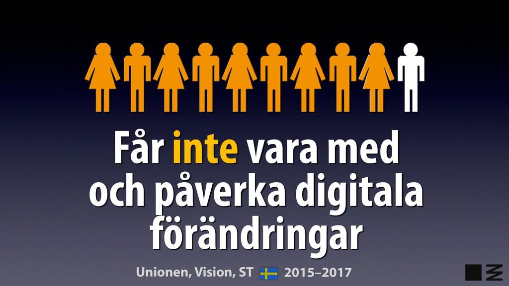 Får inte vara med och påverka digitala förändri...