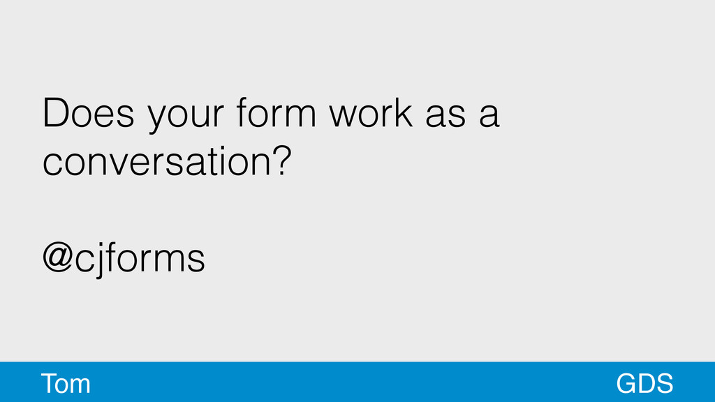 Does your form work as a conversation? ! @cjfor...