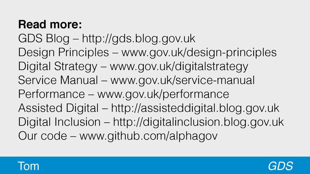 Read more: GDS Blog – http://gds.blog.gov.uk ...