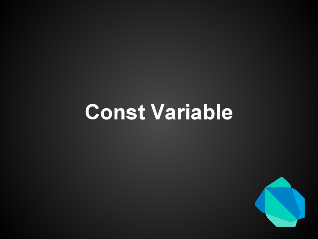 Const Variable