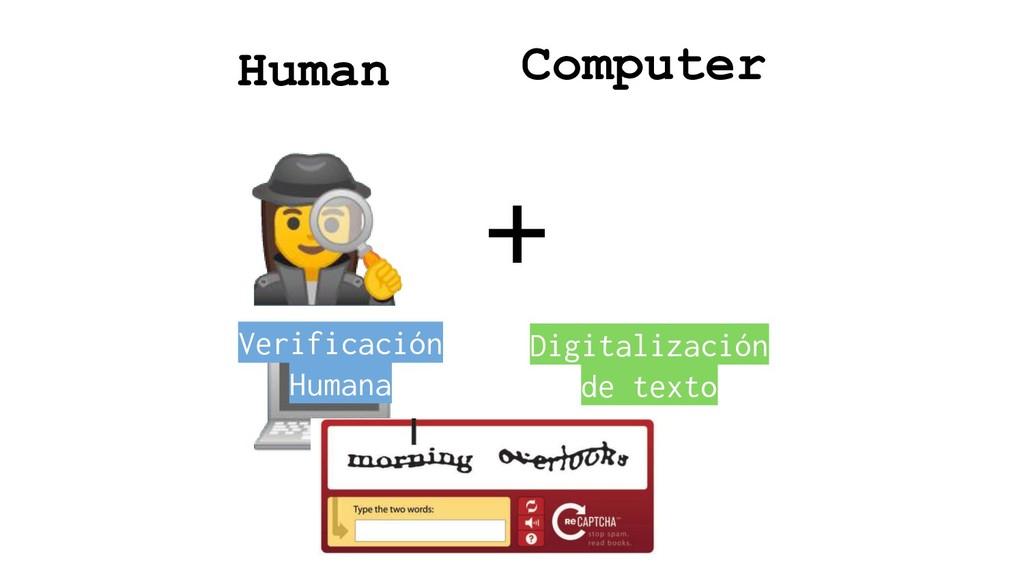 ♀ +  Human Computer Verificación Humana Digita...