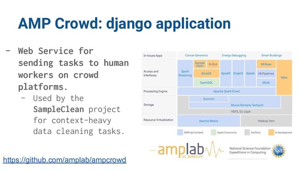AMP Crowd: django application - Web Service for...