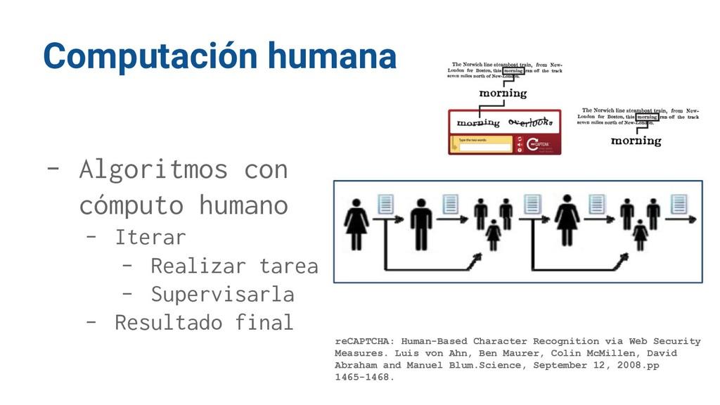 Computación humana - Algoritmos con cómputo hum...