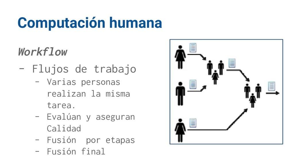 Computación humana Workflow - Flujos de trabajo...