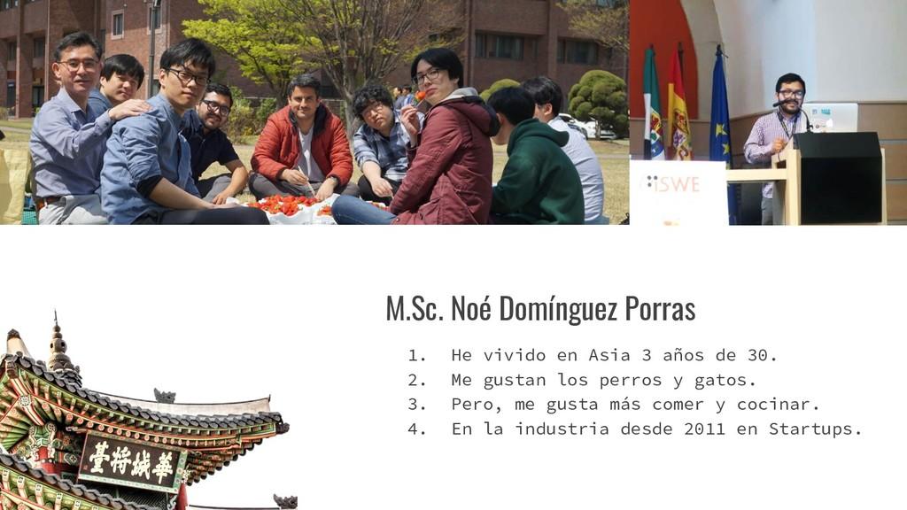 M.Sc. Noé Domínguez Porras 1. He vivido en Asia...