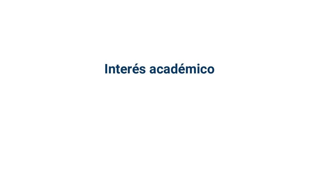 Interés académico
