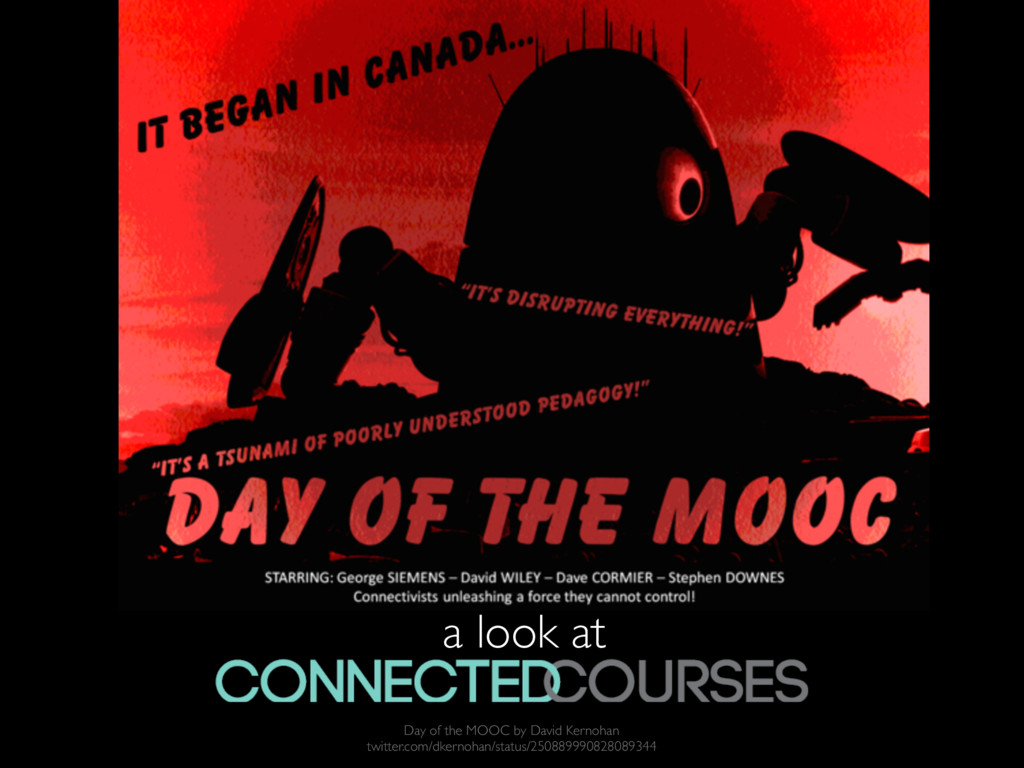 a look at ! Day of the MOOC by David Kernohan t...