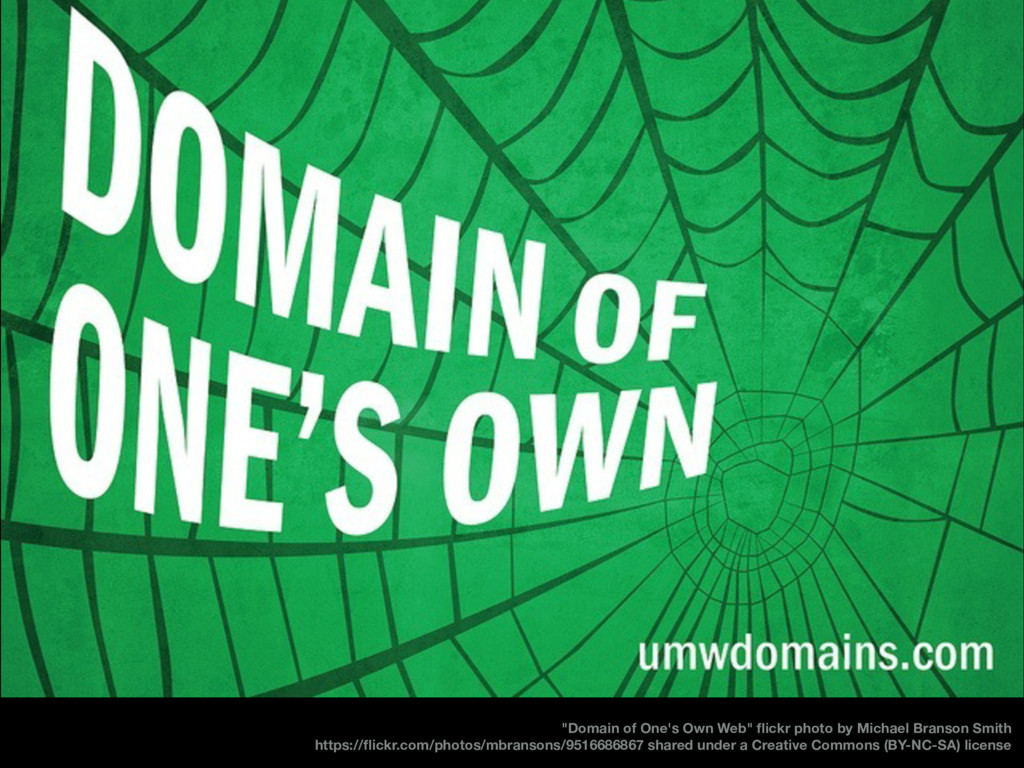 """Domain of One's Own Web"" flickr photo by Michae..."
