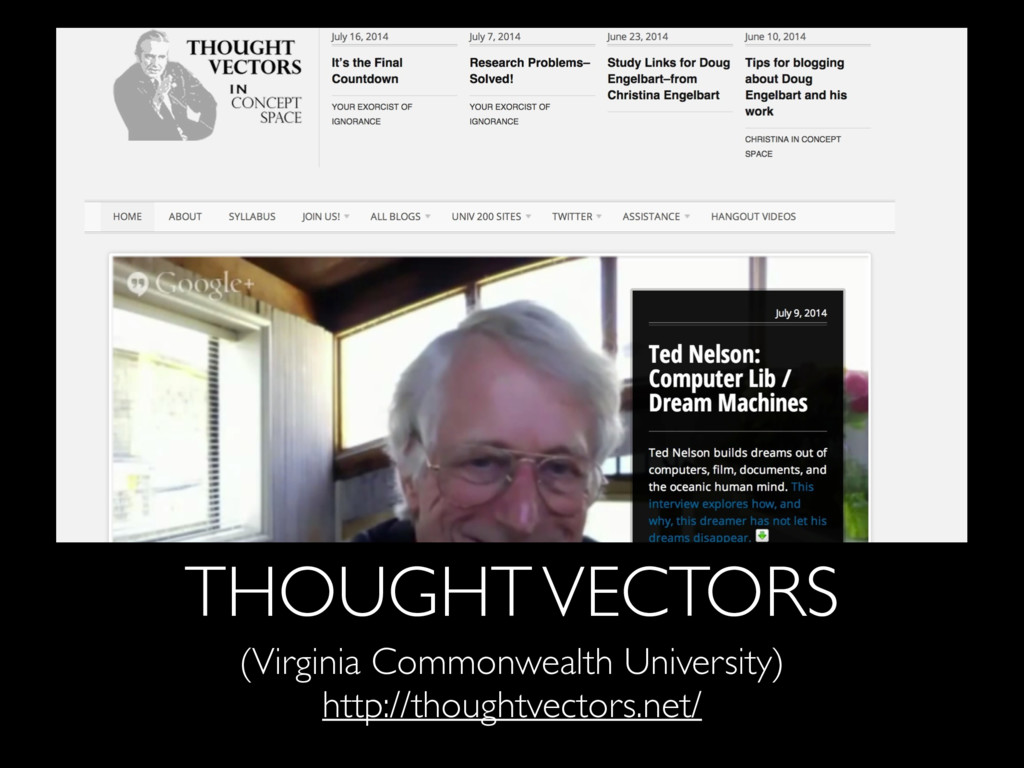THOUGHT VECTORS (Virginia Commonwealth Universi...