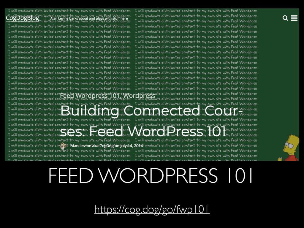 FEED WORDPRESS 101 https://cog.dog/go/fwp101