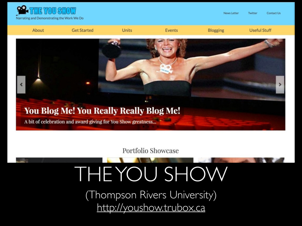 THE YOU SHOW (Thompson Rivers University) http:...